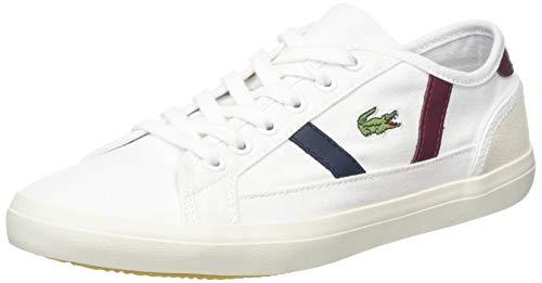 Lacoste Sideline 319 2 Cfa, Zapatillas Mujer, Blanco (White/Dark Red/Navy 222), 41 EU