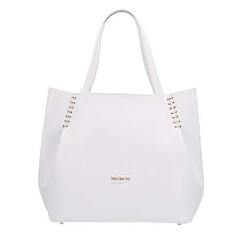 Nero Giardini donna Borsa shopping bag bianco P945038D