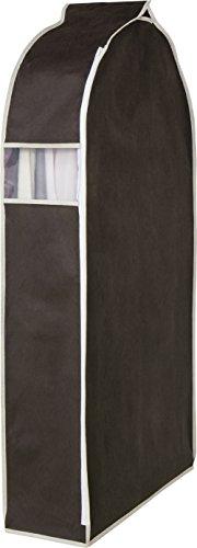 アストロ 洋服カバー ワイド スーツサイズ ブラウン 不織布 透明窓付き 底までカバー まとめて収納 600-14