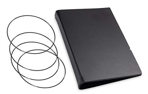 A6, revolutionäres, nachhaltiges X17-Konzept für Notizbuch Personal Organizer und Terminplaner/Hülle für 3 Hefte! Recyceltes Leder, schwarz, Made in Germany,17 Jahre Garantie*