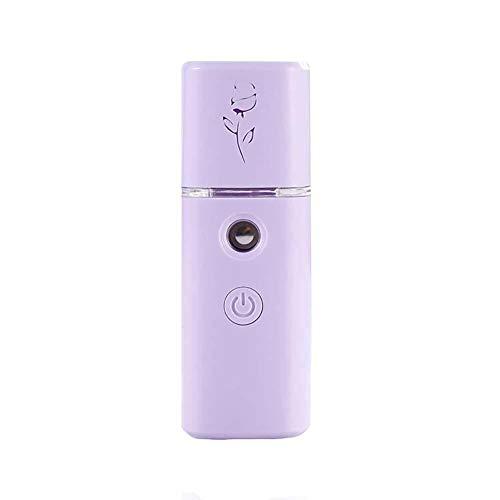 Melunda1XUSB Mano Frío Vaporizador de Agua Facial Reposición Conveniente Humidificador, Morado, 10.5*3.5cm