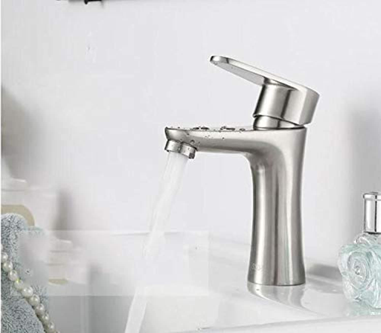 Hlluya Professional Sink Mixer Tap Kitchen Faucet Stainless steel basin mixer bathroom to redate the C