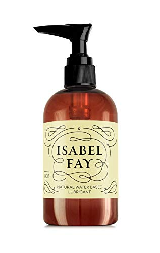 8 Oz, NO Parabens NO Glycerin, Natural Personal Lubricant for Sensitive Skin, Isabel Fay - Water Based - Best Personal Lube for Women and Men (8 Fl OZ)