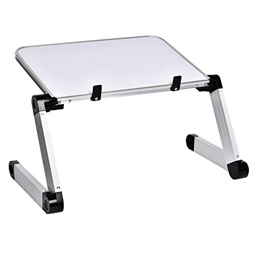 PHH Aluminum Alloy Table Ultralight Portable Folding Laptop Tables Sofa Bed Office Laptop Stand Desk Computer Notebook Bed Table (Color : HH474000WH)