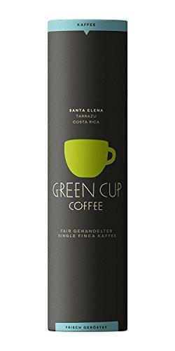 Green Cup Coffee Kaffee Santa Elena - der Hochlandkaffee aus Costa Rica - sortenreine Bohnen in Premium Qualität - Kaffeebohnen ideal für French Press - 454g Dose ganze Bohne