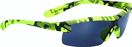 BBB Kids BSG-54 Sportbrille Kinder Camouflage matt neon gelb 2020 Fahrradbrille