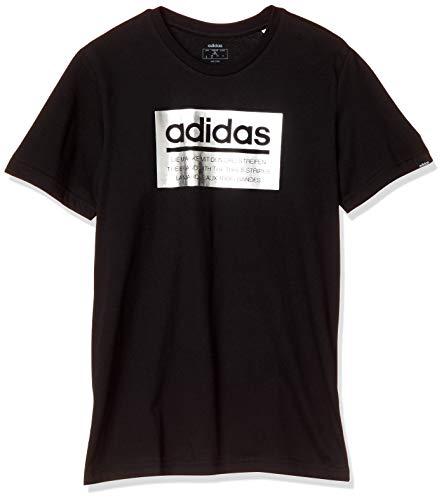 [アディダス] トレーニングウェア M グラフィックTシャツ(GVB49) メンズ ブラック/シルバーメタリック(FM62...