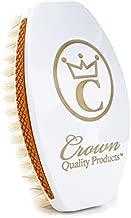 NEW 360 Wave Brush CAESAR 2.0 – TITANIUM WHITE PREMIUM - MEDIUM SOFT – 100% Boar Bristles