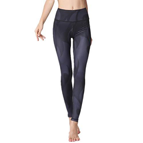NIGHTMARE Leggings Ajustados recortados para Mujer, Pantalones de Yoga de compresión de Cintura Alta para Gimnasio, Mallas Sexis de Gimnasio para Mujer, Mallas de Yoga L