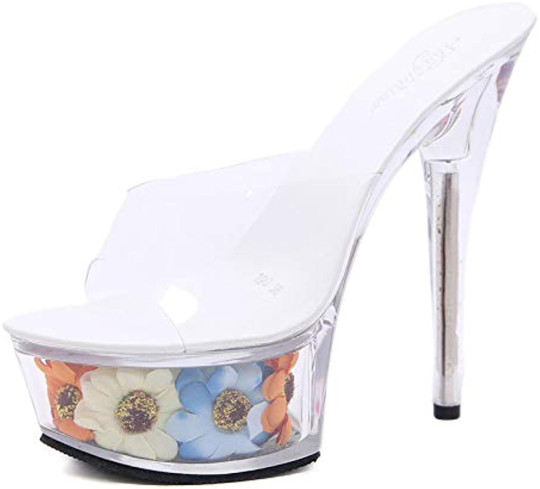 MENGLTX High Heels Sandalen 2019 Heier Frauen Sandalen PVC Transparente Sommer Schuhe Super Dünne Fersen Plattform Schuhe Frau Party Prom Schuhe Weiblich