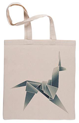 Origami Unicornio Bolsa De Compras Shopping Bag Beige