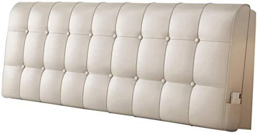 Cojines Almohada de cama Cabecera Tapicería de tapicería de doble acolchado Soporte de posicionamiento suave Lectura acogedora de día, 4 colores, 5 tamaños ( Color : C , Size : 180x10x60cm )