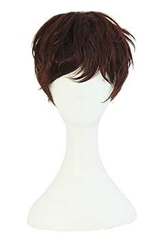 MapofBeauty Fashion Women Natural Short Curly Wig  Dark Brown