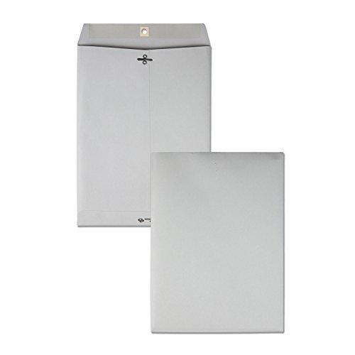 Quality Park Quality Park Executive Gray Gummed Clasp Envelopes (QUA38590), 9 x 12 Inches
