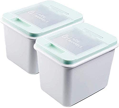 Caja de Almacenamiento Contenedor de Almacenamiento de Granos 10kg15kg Plástico Almeja Barril de arroz Sellado Control de plagas Harina a Prueba de Humedad Comida para Perros Comida para gat