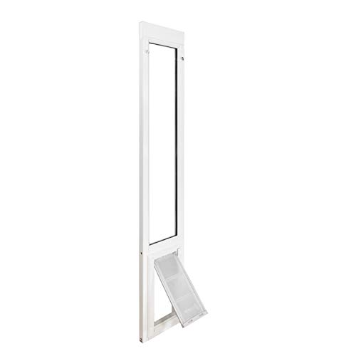 "Endura Flap Vinyl Sliding Glass Dog Door - Medium - 74.75"" - 77.75"" - White"