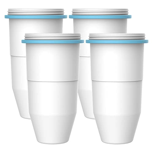 AQUA CREST ZR-017 6-Stage Replacement Water Filters, Compatible with Zerowater pitchers and dispensers (4 packs)