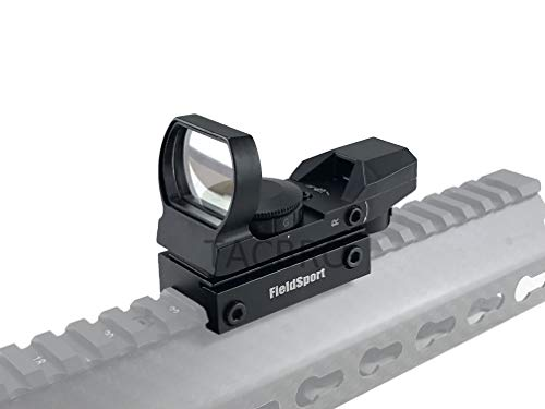 Fieldsports TACBRO Red and Green Reflex Sight with 4 Reticles