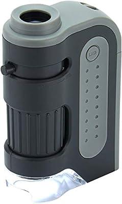 Carson MicroBrite Plus 60x-120x LED Lighted Pocket Microscope