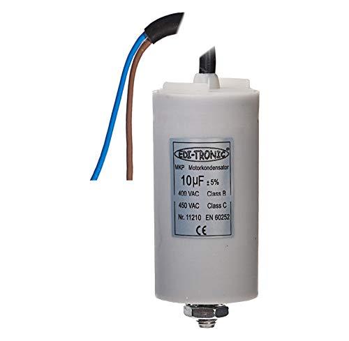Kondensator Anlaufkondensator Motorkondensator Arbeitskondensator Kabel 10µF 450V