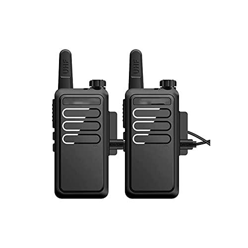 ZHANGCHI 2 PackWalkie Talkie 5W High 16 Canales Recargables USB Radio de Mano de la batería del Cargador con Auricular, Adecuado para hoteles/sitios (Color : Black)