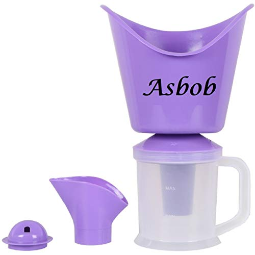 Asbob Facial Steamer with 3 Attachments, Nose Steamer, Cough Vaporizer and Nozzle Inhaler for cough and cold kids