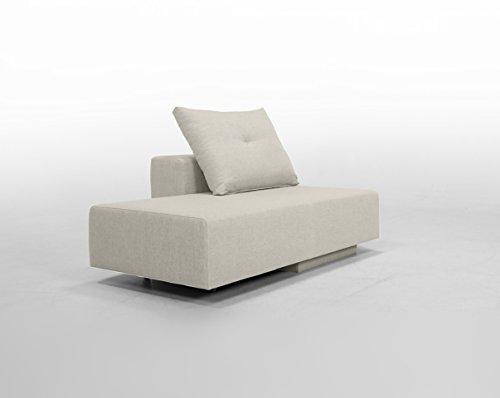 FEYDOM Minisofa BonBon2 - kleines Sofa Recamiere Schlafsofa - weiche Mikrofaser, katzentauglich, incl. Kissen, Honig beige