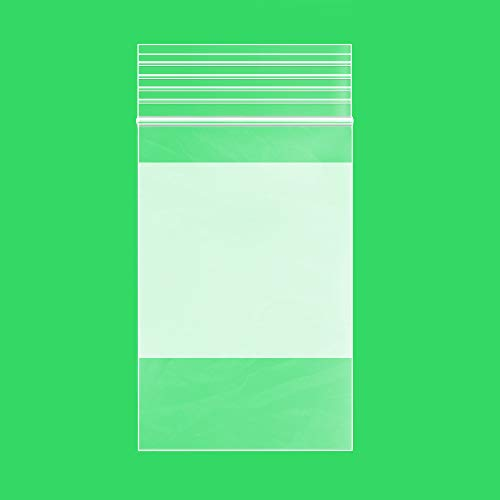 2Mil Small Plastic Bags 2 x 3 inches, 1000 pack Ziplock Bags, Write on White Block, Reclosable Zipper small plastic Storage Baggies GPI Brand, for Daily Vitamin, Pill, Jewelry, Candy