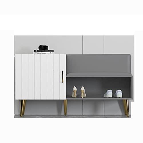 QIFFIY Zapatero de almacenamiento para zapatos, muy adecuado para armarios de entrada, pasillo o sala de estar (color: gris y blanco)