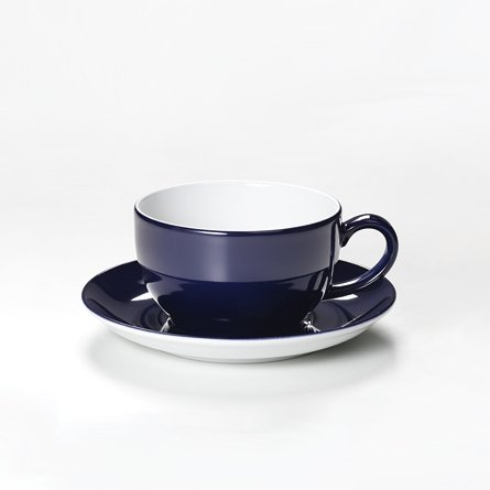 Dibbern Solid Color Kaffeetasse+Untere 0,25 l Marine