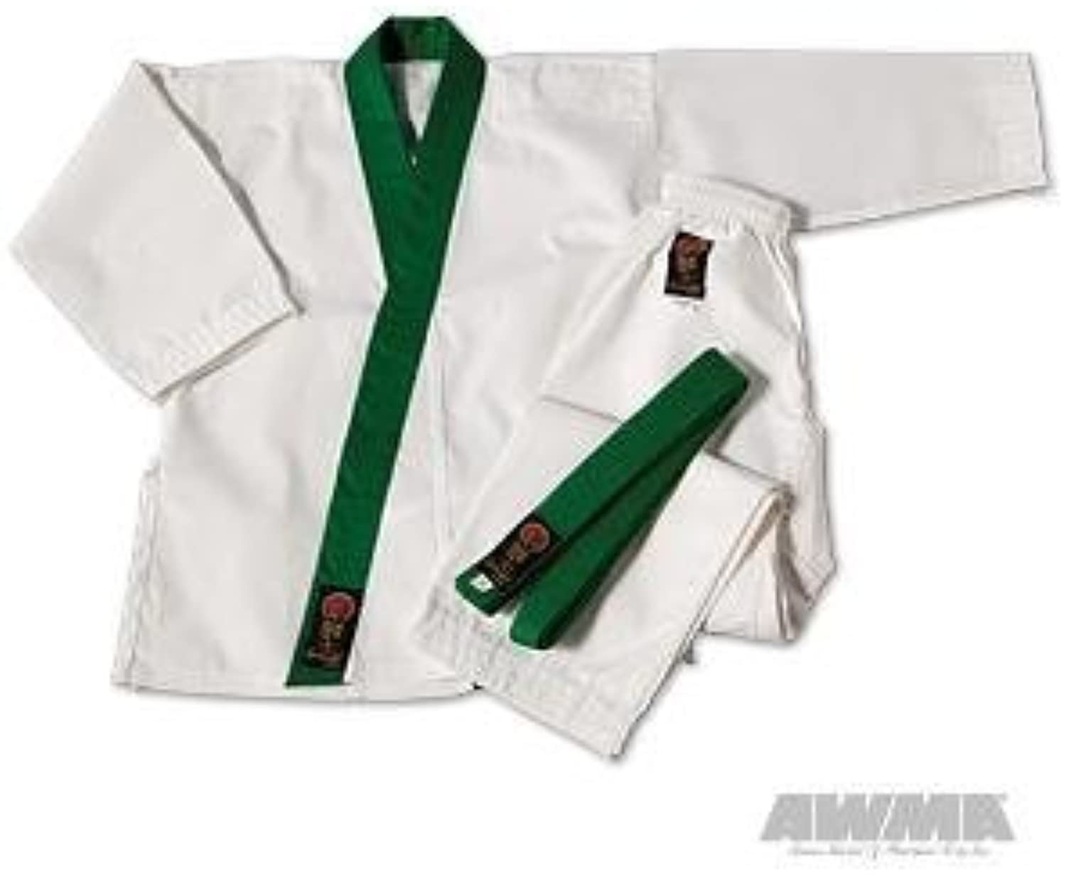 Sturmstreichhlzer Gladiator 7.5oz GUP Trimmed Tang Soo Do Uniform–Grün–Größe 00by PRO Force