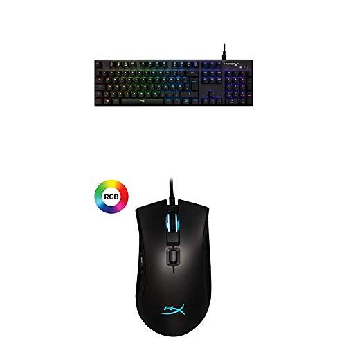 HyperX Alloy FPS RGB Gaming Tastatur Dunkelgrau (Qwertz deutsches Layout) + Pulsefire FPS Pro RGB Maus