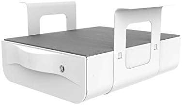 FLEXISPOT S01 Tiroir sous Bureau avec Plateau Organisateur de Rangement verrouillable 37cm x 288 cm x 10cm Tiroirs de Poste de Travail Coulissant de Sécurité Blanc
