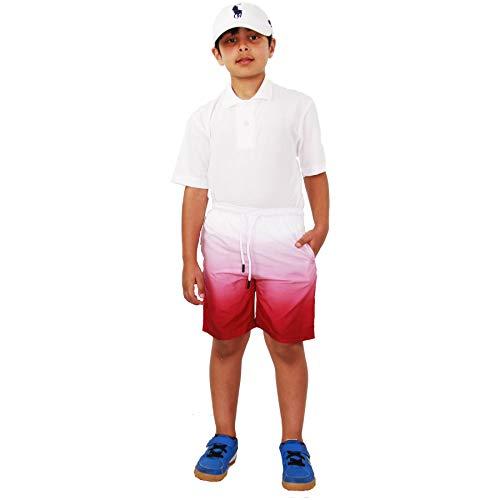 A2Z 4 Kids® kindershorts twee tinten wijn chino zomer shorts nonchalant korte broek 3-13 jaar