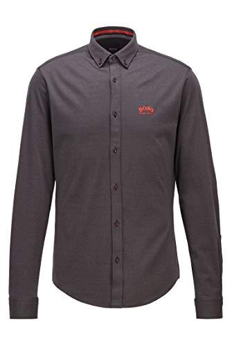 BOSS BIADO_R 10233753 01 Camisa, Negro1, M para Hombre