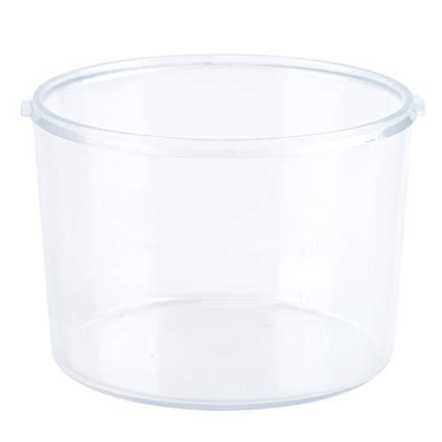 Recipiente de alimentos a prueba de fugas, tarro duradero, dispensador de cereales transparente, recipientes de plástico con tapas de 2,5 l para almacenar cereales, frutas secas, aperitivos(grey)