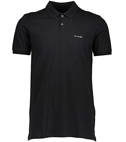 Ben Sherman Polo-Hemd klassisches Polo-Shirt für Herren T-Shirt Kurzarm-Shirt Freizeit-Shirt Schwarz, Größe:XS