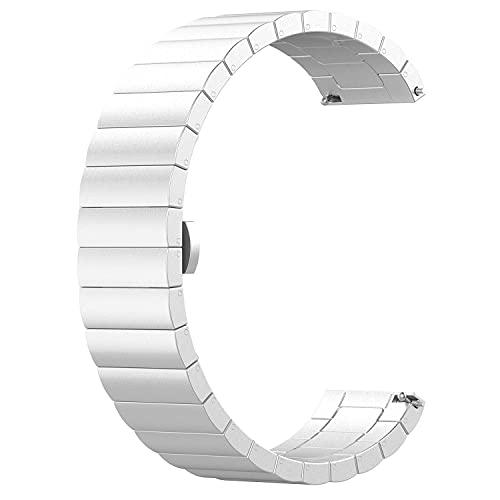 ZBMZLX Reloj de Correa de Acero Inoxidable Reloj de liberación rápida Universal Correas de reemplazo de Metal Compatible SmartWatch Reemplazo Hombres Mujeres Muñeca Correa Reloj