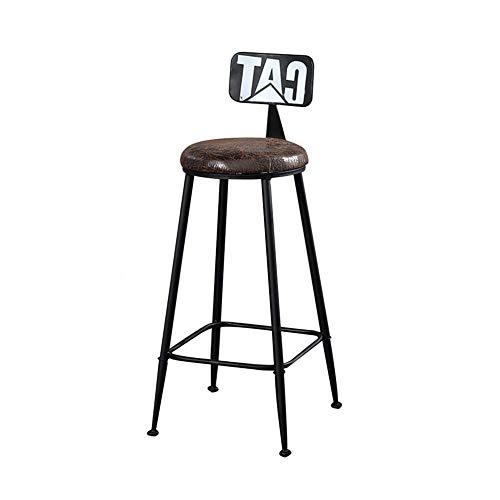 Barhocker FUFU Industrieller Barstuhl Mit Rückenlehne Retro Esszimmerstuhl Aus Metall Hochstuhl Kaffeestuhl Freizeitstuhl Im Freien