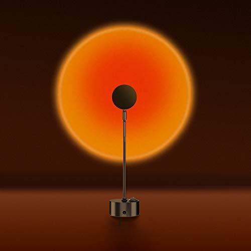 サンセットライト 赤夕日投影 プロジェクター 夕焼け ナイトライト 雰囲気作り 90度折れ可能 夕陽ランプ 撮影ライト プラネタリウム ロマンチック 写真撮り おもしろい 子供 大人 楽しい パーティー 寝室 リービングルームに適用 プレゼント 間接照明