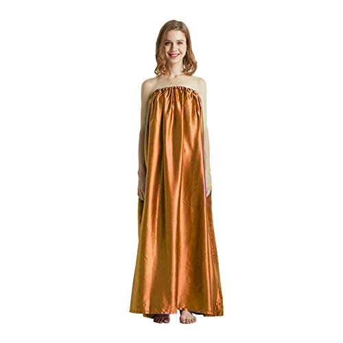 QOONESTL Steam Gown, Sauna Loose Gift Bath Robe, Full Body Covering, Soft and Sleek Fabric, eco-Friendly,Sauna Steam Cloak for Home Fumigation Bathrobe,Spa Tent Body Therapy Steam Generator
