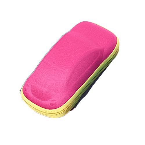 YFQX, Casos de Gafas, Caja de Gafas para niños, Caja de Gafas de Marco Duro, Gafas de Sol portátiles, Caja de Lentes de Lectura, Caja de Gafas en Forma de automóvil-Red