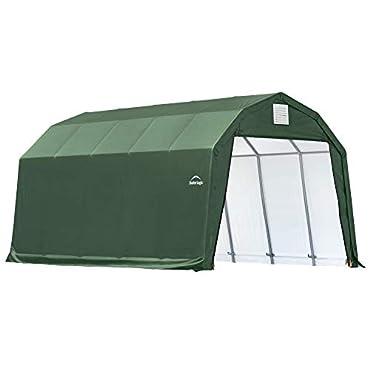 ShelterLogic 97154 Green 12'x24'x9' Barn Shelter