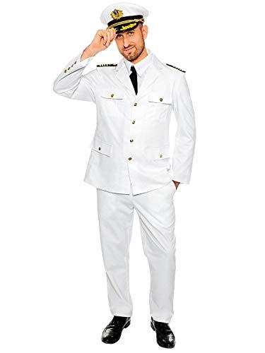 Maskworld Authentisches Kapitän Kostüm - Verkleidung Uniform Anzug für Seefahrer - Karneval Fasching & Halloween - Größe XXL