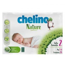 Pañales Chelino nature talla 2 (3-6 kg) 28 uds