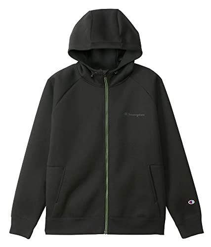 [チャンピオン] ジップフーデッドスウェットシャツ 通気性 ストレッチ 保温性 撥水 スクリプトロゴ MEN'S SPORTS ATHLEISURE C3-US103 メンズ ブラック L