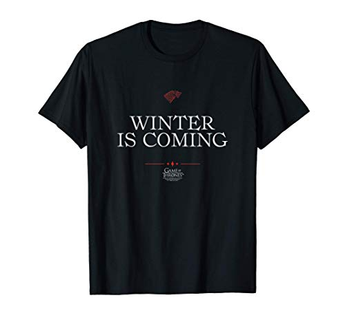 Game of Thrones Winter is Coming Text T-Shirt