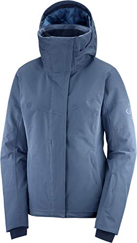 SALOMON Damen Ski-Jacke, Speed Jacket W, Polyamid/Polyester/Elasthan, Blau (Dark Denim), Größe: M, LC1380400