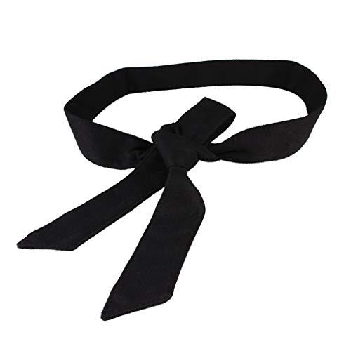 sharprepublic Cinturón de Lazo de Lana Para Mujer Banda para Abrigo Abrigo Corsé Caramelo - Negro, tal como se describe