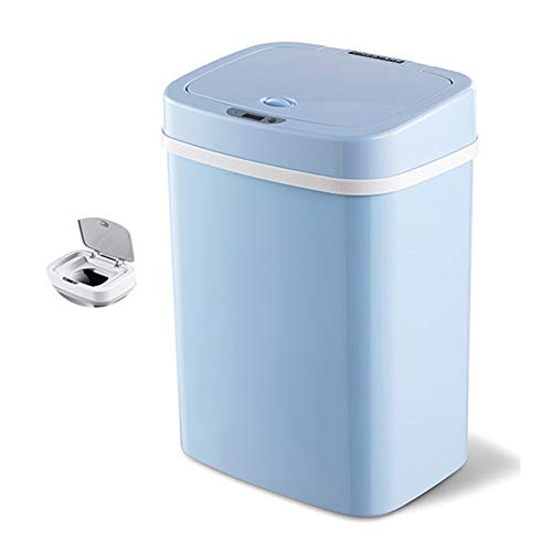 YYYUE 12L, 16L, Desodorante Sensor Smart Bassh Poder, Papelera de Almacenamiento de eliminación de pañales a Prueba de olores de Doble Capa, Mute, diseñado para bebés,Azul,12L